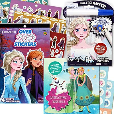 Disney Frozen 2 Imagine Ink Coloring Activity Book Deluxe Set -- Including 2 Frozen Sticker Books with Over 200 Stickers: Toys & Games