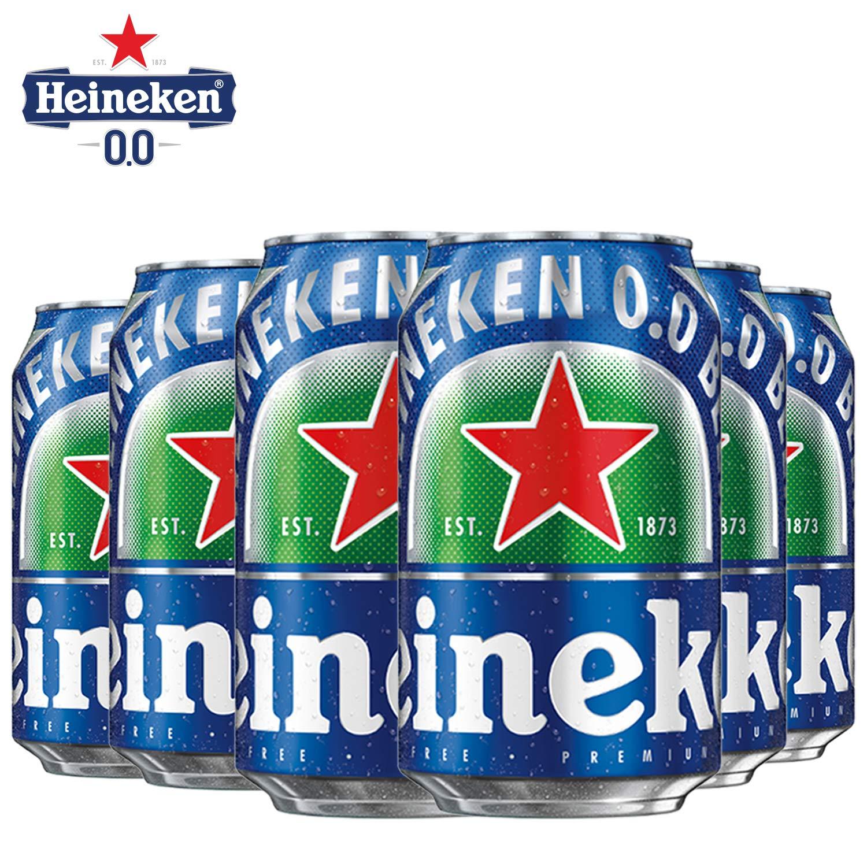 Heineken 0.0 % Non Alcoholic Lager Beer - Zero Dot Zero Can 24 Pack, Lager Beer 0.0, 24 x 330ml