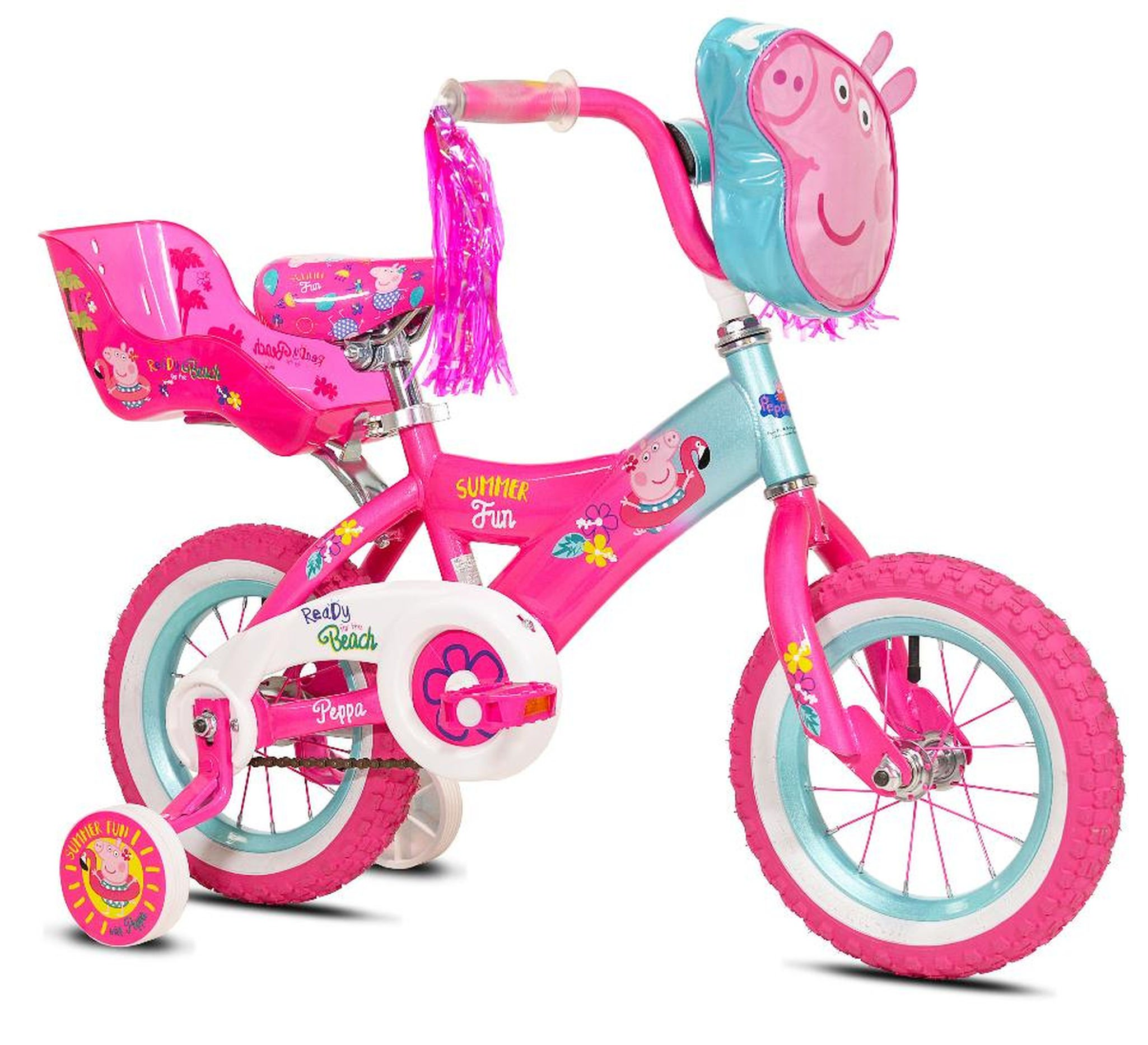 Girls 12 inch Peppa Pig Bike with Doll Seat by Kent International