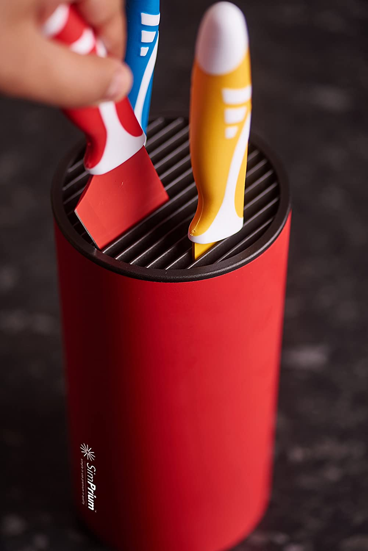 amazon com simprium red universal cylinder knife block light