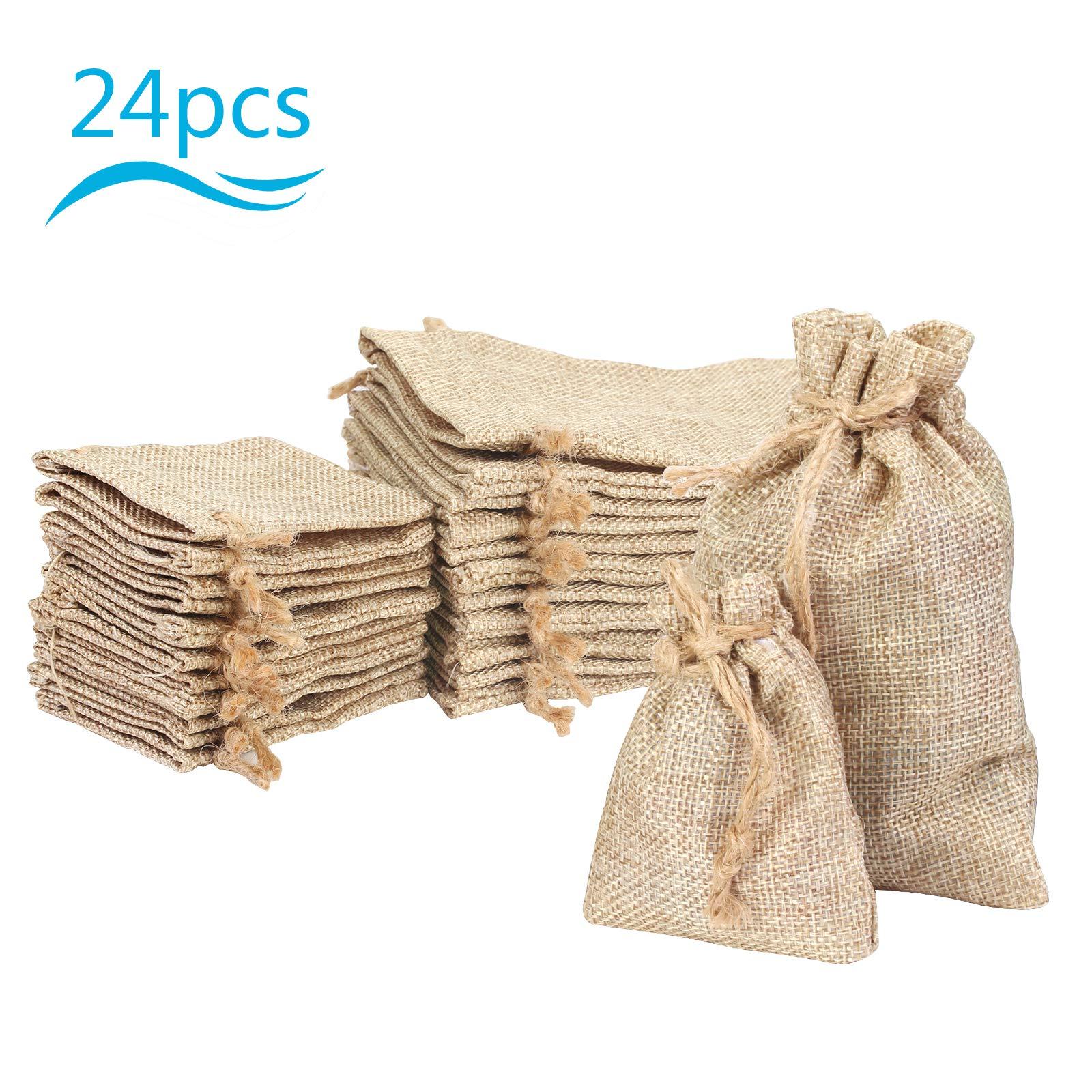 Small burlap bags