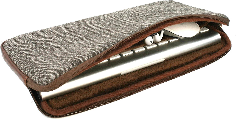 Trackpad 1 /& 2 Brown Tuff-luv Herringbone Tweed Travel Case for Accessories Magic Keyboard 1 /& 2 Mouse 1 /& 2
