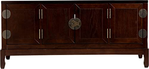 Dynasty Media Cabinet - Side Cabinets w Adjustable Shelves - TV Stand w Expresso Finish