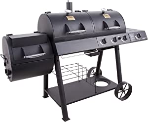 Oklahoma Joe's gas charcoal Smoker grill Combo