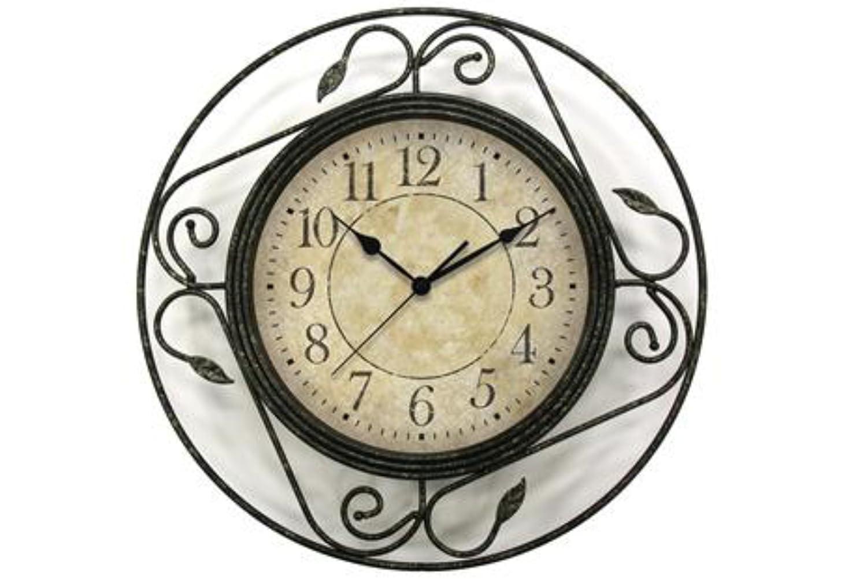 Amazon geneva clock wrought iron wall clock 14 inch home amazon geneva clock wrought iron wall clock 14 inch home kitchen amipublicfo Choice Image