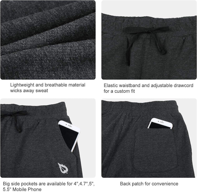 BALEAF Youth Girls Basketball Shorts Active Lounge Bermuda Shorts Knee Length Yoga Shorts with Pockets