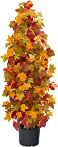 Nearly Natural 39in. Autumn Maple Artificial Silk Trees, Orange