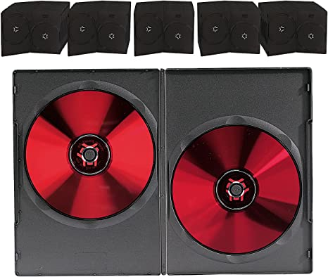 Unbekannt Doble DVD Slim (7 mm) Caja de 50 Set Negro: Amazon.es: Informática