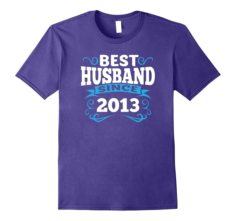 Mens 4th Wedding Anniversary Gift Best Husband Since 2013 Linen-T-Shirt
