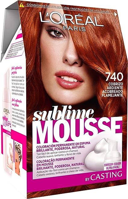 LOréal Paris Sublime Mousse Tinte en Espuma Coloración 740 Cobrizo Ardiente