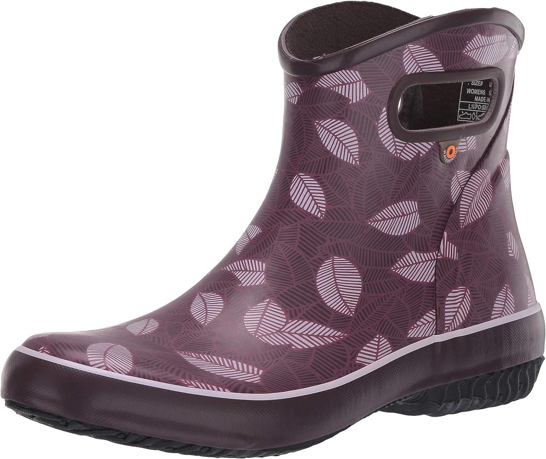 BOGS Women's Patch Ankle Waterproof Garden Rain Boot