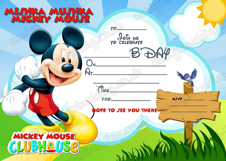 8 x de DISNEY Mickey Mouse tarjetas de invitaciones tarjetas ...