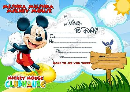 8 X Disney Mickey Mouse Invitations Cartes D Invitation Pour