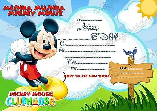 8 X De Disney Mickey Mouse Tarjetas De Invitaciones Tarjetas