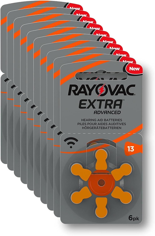 Rayovac Extra Advanced - Pilas de audífono Zinc Aire A13/PR48 ...