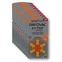 Rayovac Extra Advanced Zink Luft Hörgerätebatterie (in der Größe 13er Pack, mit 60 Batterien, geeignet für Hörgeräte Hörhilfen Hörverstärker) orange