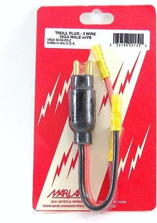 Trolling Motor Plug Troll Plug Male Mar-Lan 5010-03-2 3 ...
