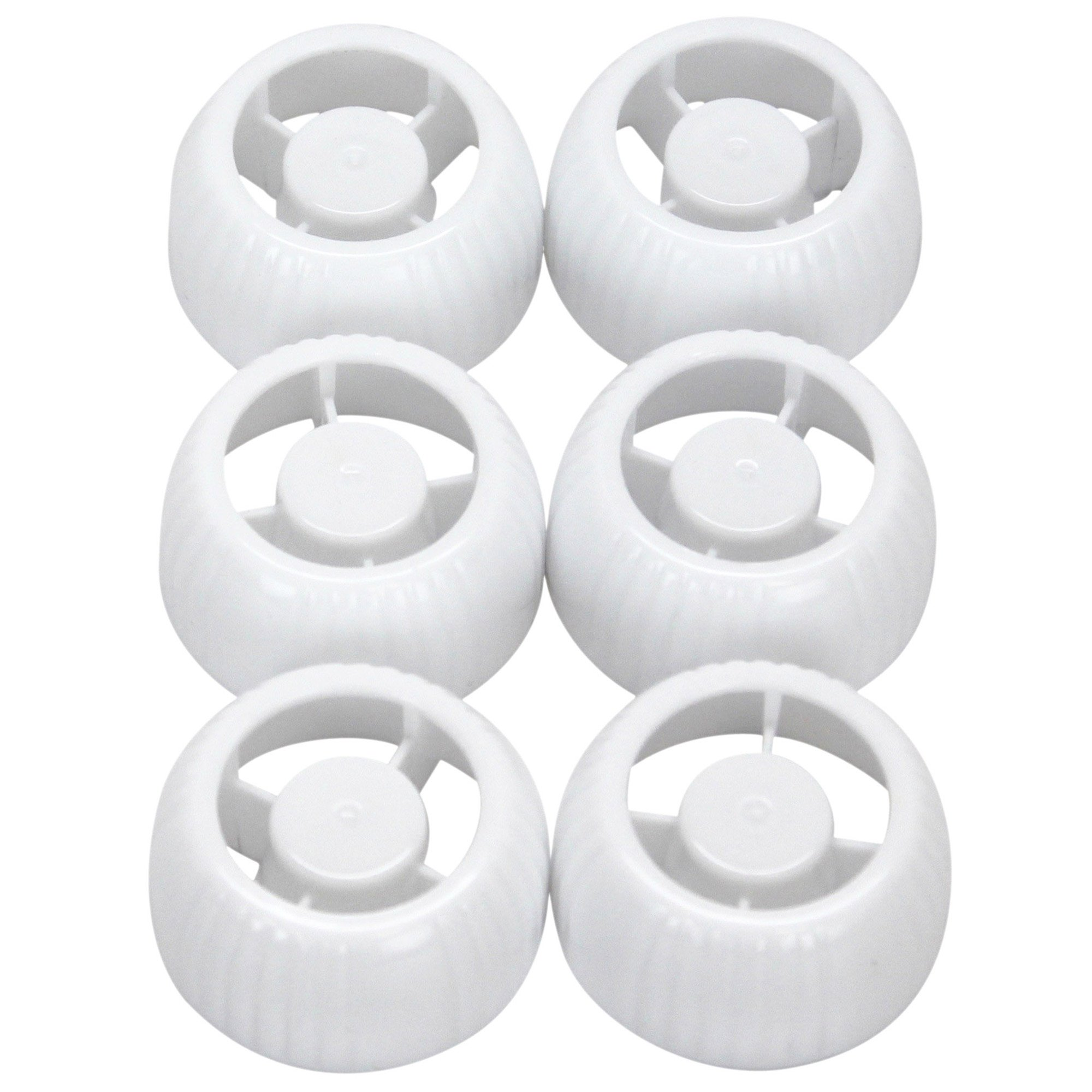 WeeSprout Replacement Caps for Reusable Food Pouches, 6 Count
