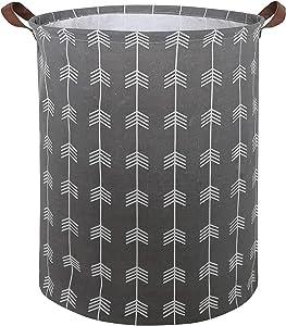 CLOCOR Collapsible Round Storage Bin/Large Storage Basket/Clothes Laundry Hamper/Toy Storage Bin (Arrows)