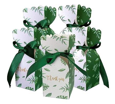 Lontenrealgs 50 Cajas de Caramelos para Boda, cumpleaños ...