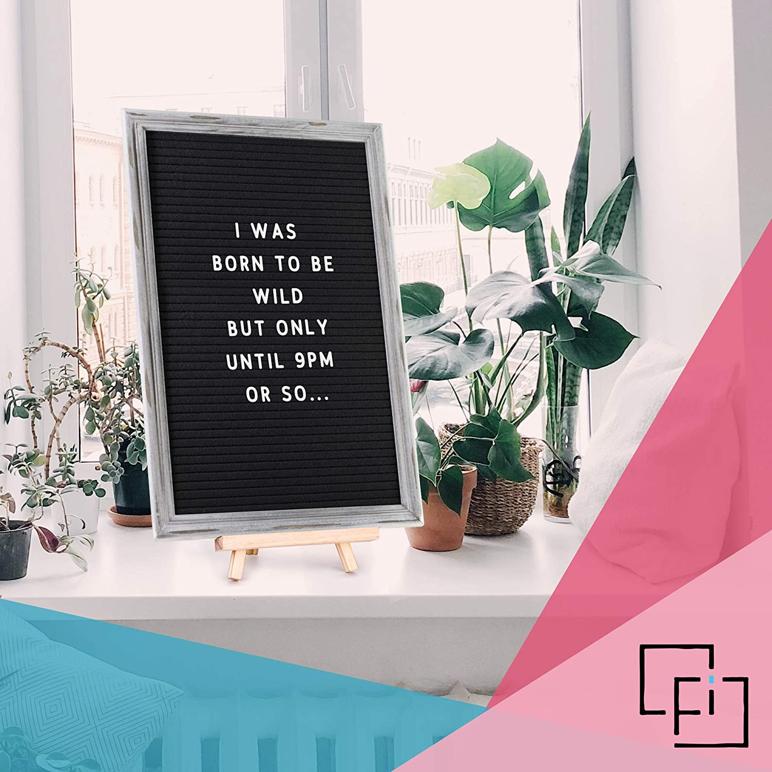 """Handcrafted Solid Oak Frame and Premium Felt and Mint Green Letters Black 12x18 inch 1100+ 3//4/"""" and 1/"""" White Felt Letter Board MEGA BUNDLE GIFT Set Organizer and More Cursive Phrases Easel Pastel Pink"""