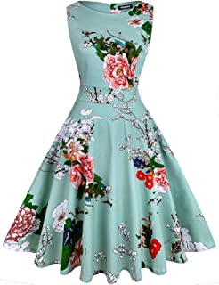 d8f2f33a8c3bc OWIN Women's Vintage 1950's Floral Spring Garden Rockabilly Swing Prom  Party Cocktail Dress