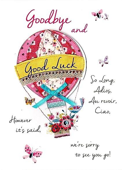Amazon just to say goodbye good luck greeting card second just to say goodbye good luck greeting card second nature just to say cards m4hsunfo Choice Image
