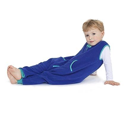 Bebé Deedee Sleep Kicker saco de dormir con pies azúl pavo real Talla:2-