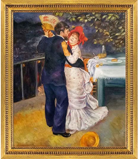 Amazon Com La Pastiche Dance In The Country By Pierre Auguste Renoir Oil Painting 25 X 29 Versailles Gold Queen Frame Paintings