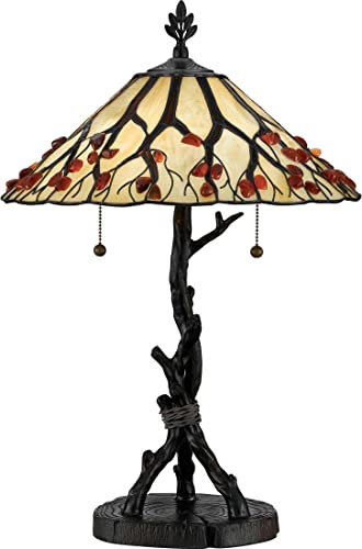 Quoizel AG711TVA Agate Tree Tiffany Table Lamp