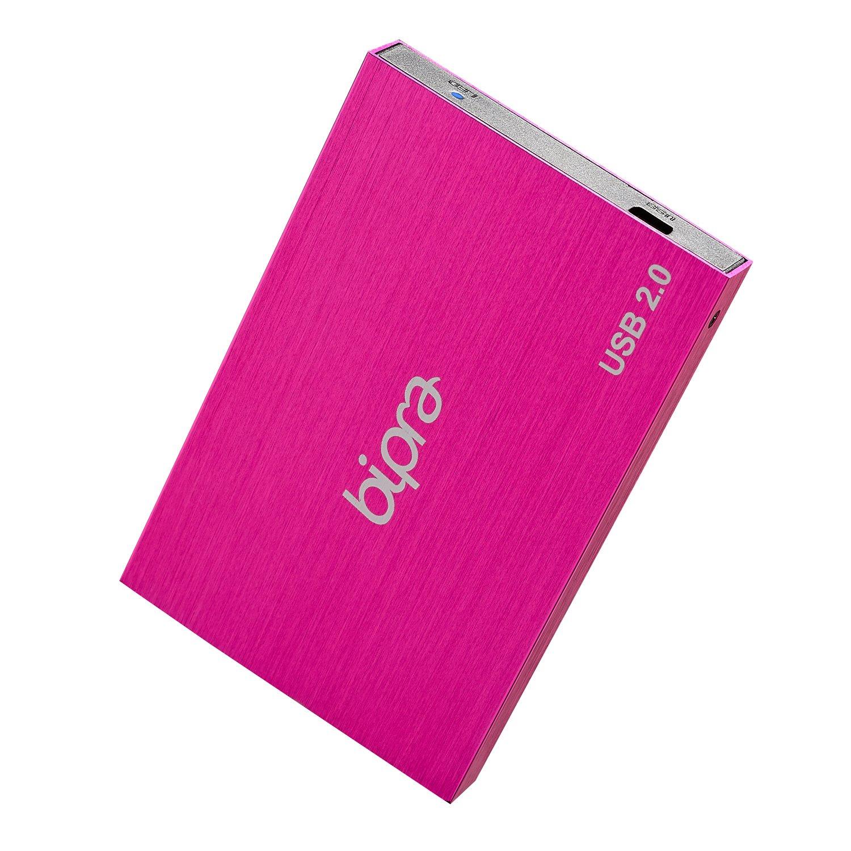 Bipra 500Gb 500 Gb 2.5 USB 2.0 External Pocket Slim Hard Drive - Sweet Pink - Fat32
