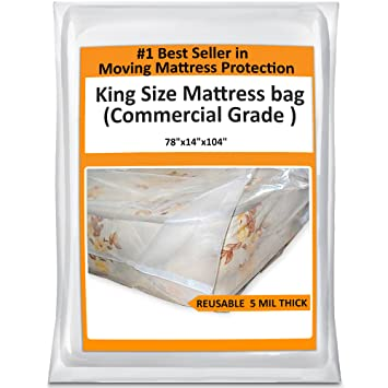 Amazon.com: King Mattress Bag For Moving - Heavy Duty Cover ...