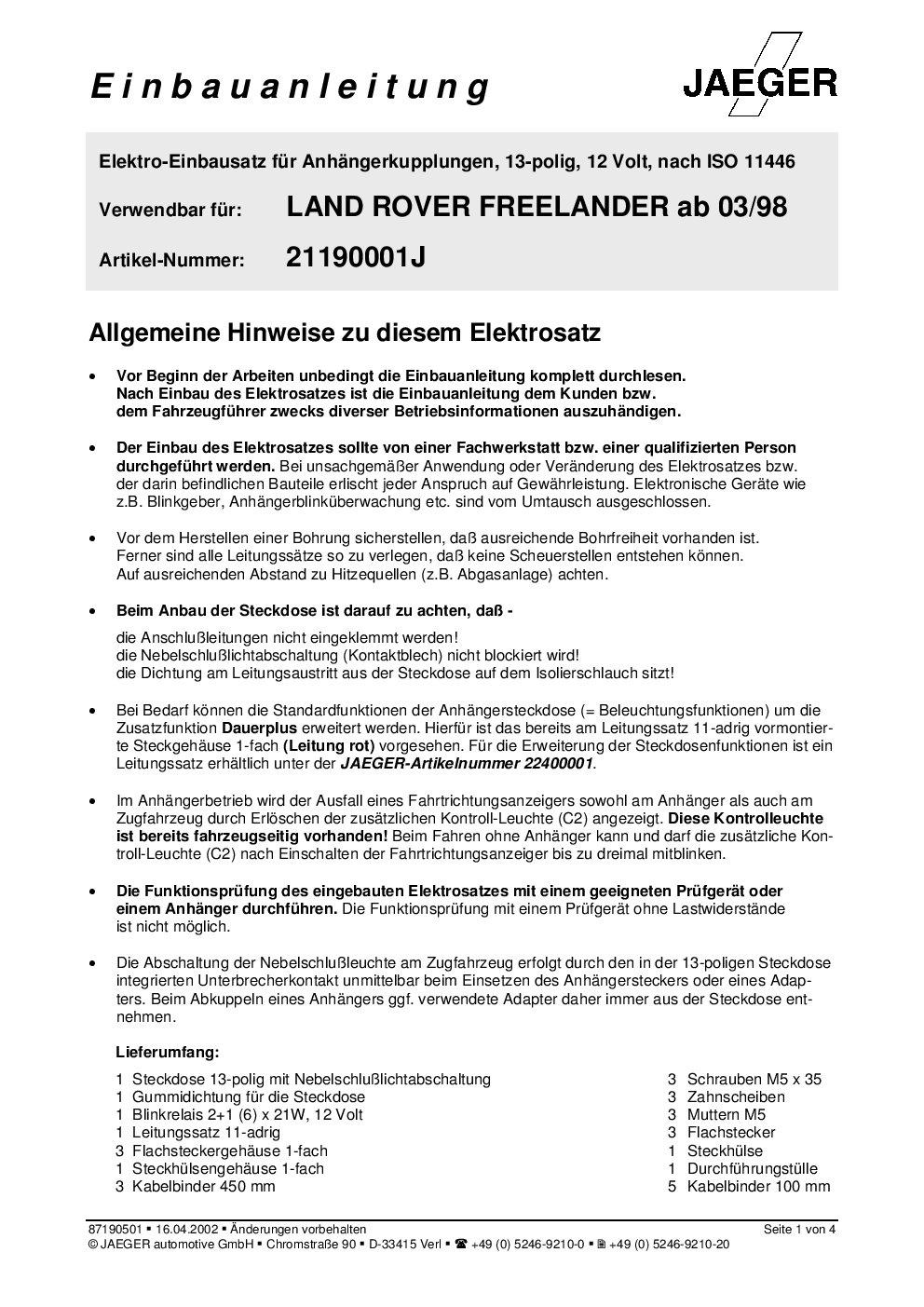 Für Land Rover Freelander I LN Anhängerkupplung abnehmbar ABE