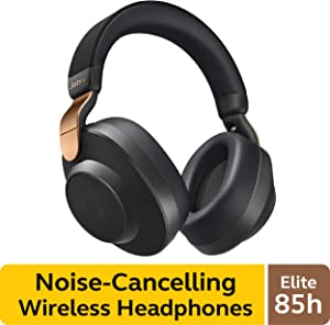 Jabra Elite 85h Wireless Noise-Canceling Headphones, Copper Black – Over Ear Bluetooth Headphones Compatible with iPhone & Android - Built-in Microphone, Long Battery Life - Rain & Water Resistant