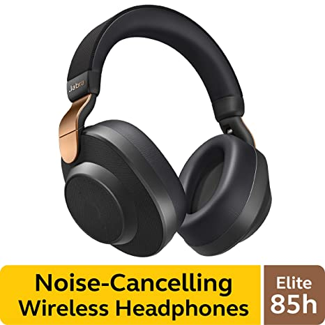 Jabra Elite 85h Wireless Noise Canceling Headphones, Copper Black – Over Ear Bluetooth Headphones Compatible With I Phone & Android   Built In Microphone, Long Battery Life   Rain & Water Resistant by Jabra