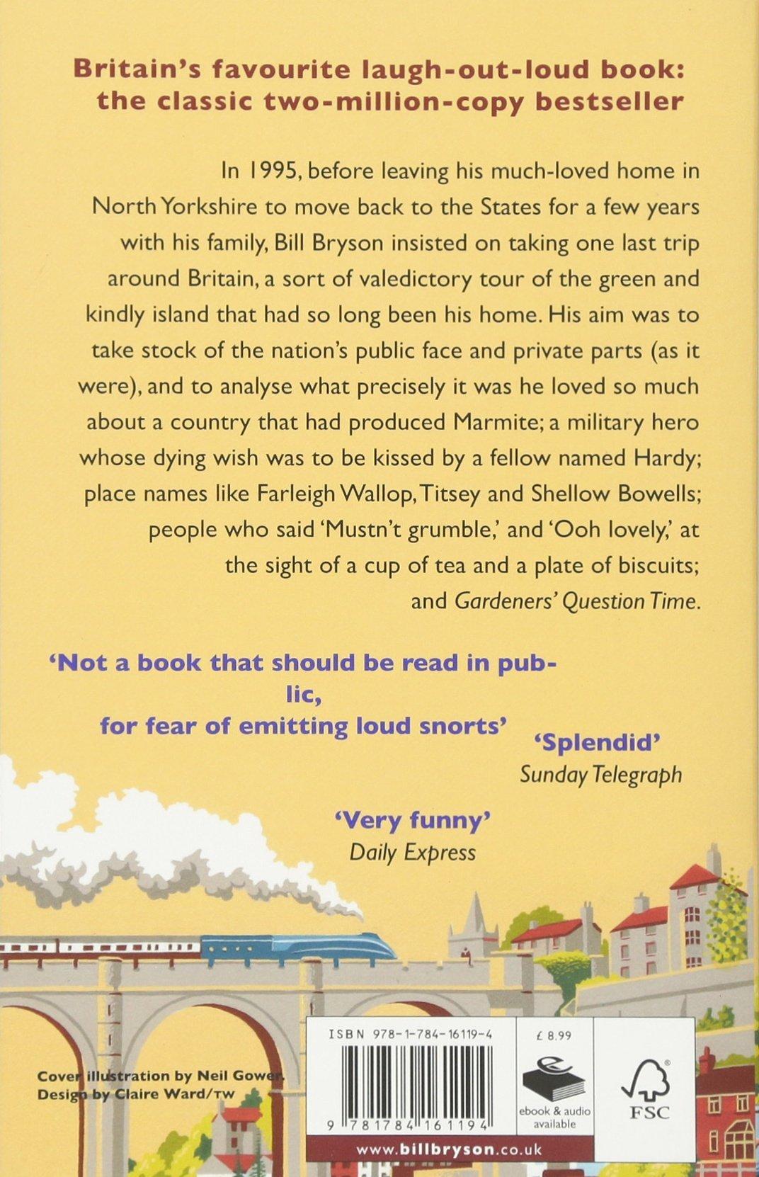 Notes From A Small Island: Journey Through Britain (bryson): Amazon:  Bill Bryson: 9781784161194: Books