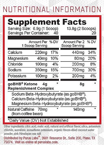 Purus Labs BHB Energy Energizing Ketogenic Fuel Mango Chile Limeade Ketone Salts Keto Powder Brain Boosting Focal Fuel Encourage Ketosis Electrolyte Powder 40 Servings