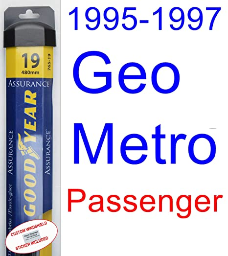 Kit de escobillas de repuesto para limpiaparabrisas Geo Metro (1995-1997) (1996