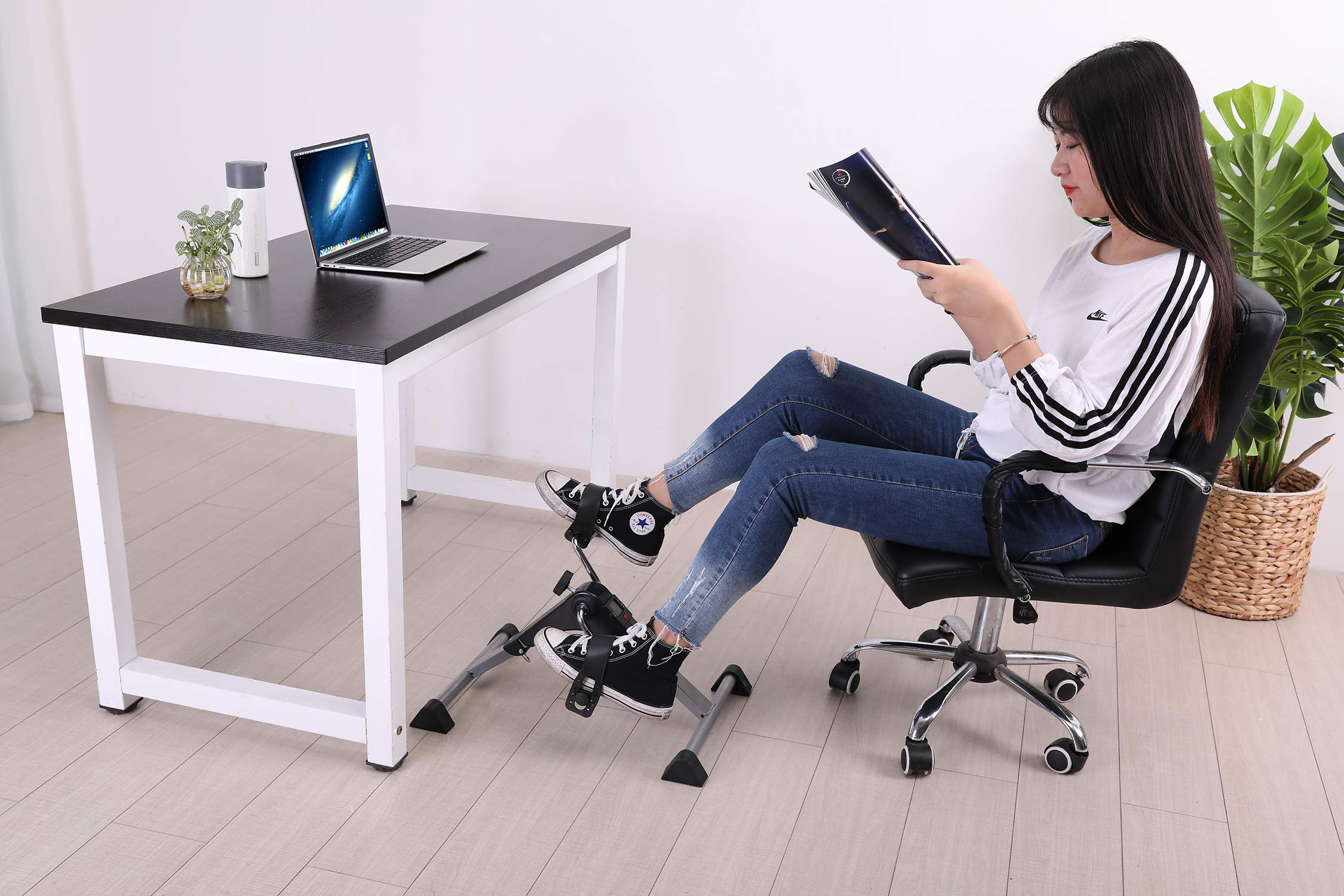 TODO Pedal Exerciser Foot Peddler Desk Bike Foldable with LCD Monitor by TODO (Image #5)