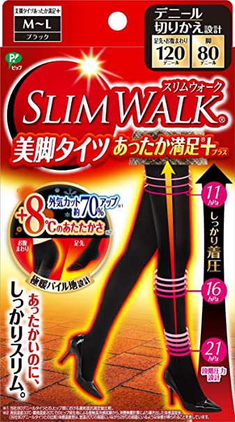 ddedd244803c5 SLIM WALK Legs tights satisfaction plus( BLACK / M-L size ) 2016 NEW!! From  JAPAN