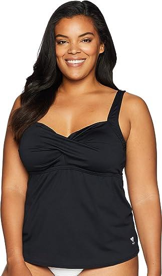 4790f014bb55f Amazon.com: TYR Women's Plus Size Solid Twisted Bra Tankini: Sports &  Outdoors