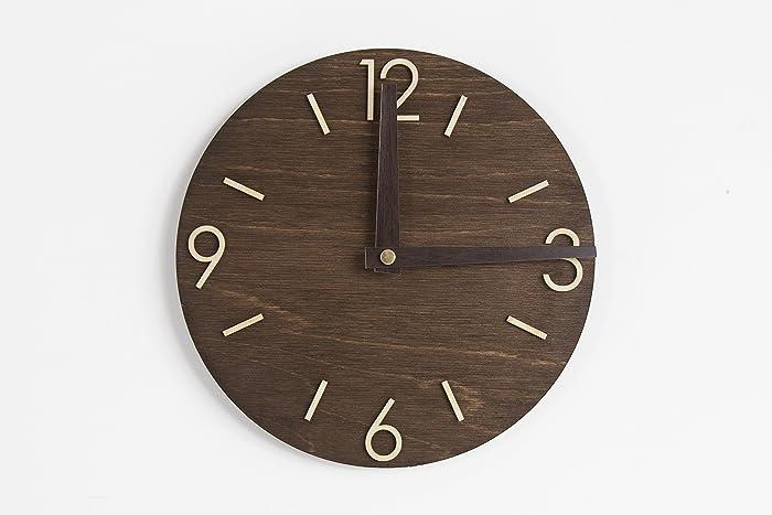 Wall Clock Modern Clock Wood Clock Wooden Clock Wood Clock For