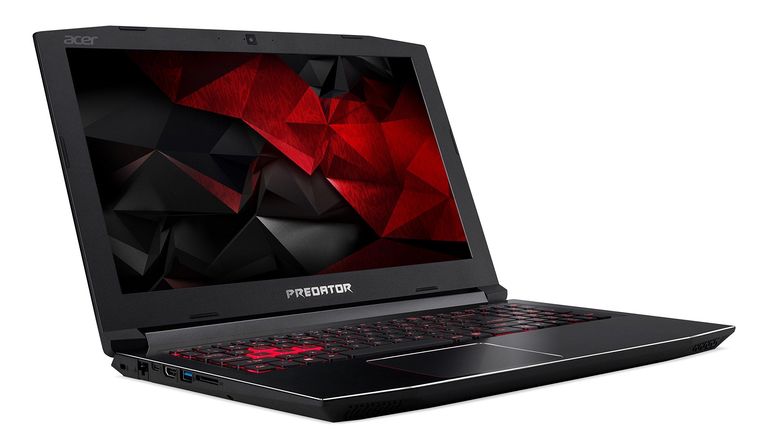 "Acer Predator Helios 300 Gaming Laptop, 15.6"" Full HD IPS, Intel i7 CPU, 16GB DDR4 RAM, 256GB SSD, GeForce GTX 1060-6GB, VR Ready, Red Backlit KB, Metal Chassis, Windows 10 64-bit, G3-571-77QK 3"
