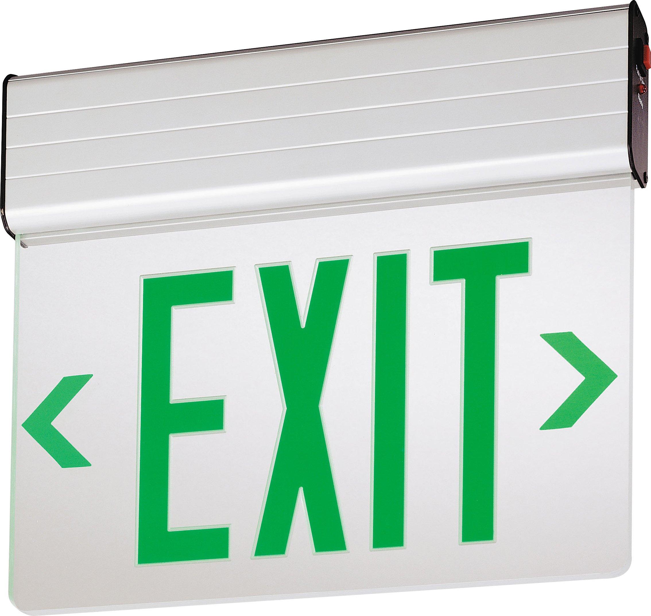 Lithonia Lighting EDG 2 G EL M6 Aluminum LED Emergency Exit Sign by Lithonia Lighting