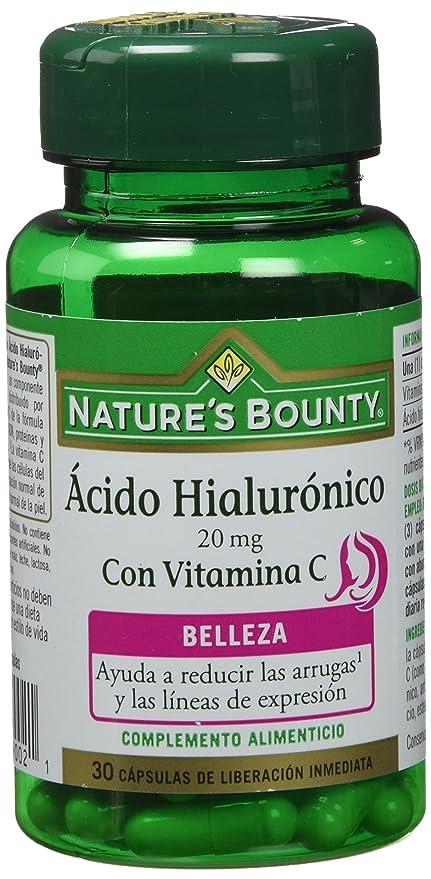Natures Bounty Ácido Hialurónico 20 Mg con Vitamina C - 30 Cápsulas