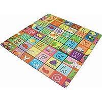eHomeKart Kids EVA Interlocking Baby Play Mats - 60 x 60 cm x 10 mm Thick Each Tile - Floor Foam Play Mat for Kids (Multicolour) (4 Tiles / 16 Sq Feet)