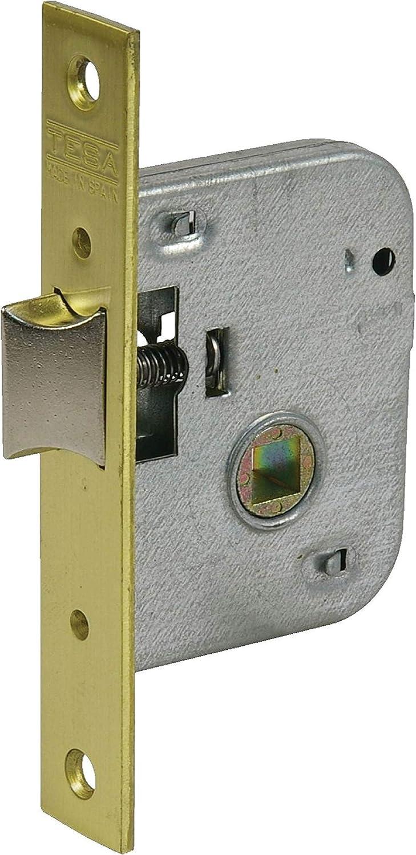 Tesa Assa Abloy, 200540HL Cerradura de embutir para puertas de madera, Entrada 40mm, Latonado