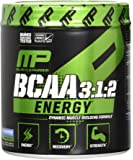 MusclePharm BCAA Energy, 3:1:2, with Caffeine and Green Tea, Muscle Recovery, Muscle Building, 6g Amino Acids, Blue Raspberry, 30 Servings