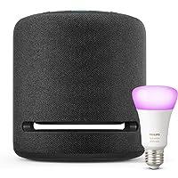 Echo Studio + Bombilla inteligente LED Philips Hue White & Color, compatible con Bluetooth y Zigbee, no se requiere…