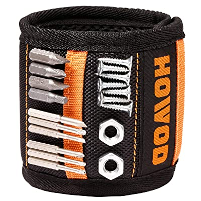 16 Powerful Magnets Drill Bits Nails Magnetic Wristband Tools Wristband Magnetic Armband for Holding Screws